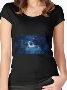 Violet Glow Women's Fitted Scoop T-Shirt