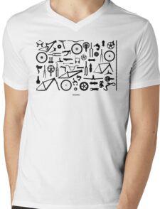 Bike Parts Landscape by Sooko Mens V-Neck T-Shirt