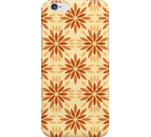 Art deco pattern with abstract flowers. Chic and elegant vintage print with flourish decor, floral motif iPhone Case/Skin