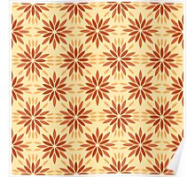 Art deco pattern with abstract flowers. Chic and elegant vintage print with flourish decor, floral motif Poster