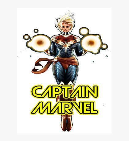 CAPTAIN MARVEL SUPERHERO Photographic Print