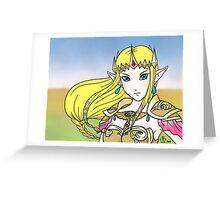 Hyrule Warriors Zelda Greeting Card