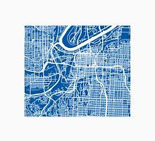 Kansas City Map - Deep Blue Unisex T-Shirt