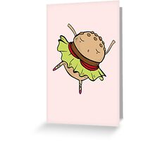 Dancing Burger Greeting Card