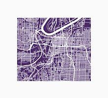 Kansas City Map - Dark Purple Unisex T-Shirt