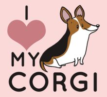 I Love My Corgi - Black Kids Tee