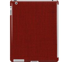 Natural Woven Dark Red Burlap Sack Cloth iPad Case/Skin