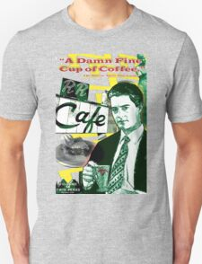 """Twin Peaks Agent Cooper """"A Damn FIne Cup of Coffee"""" Unisex T-Shirt"""