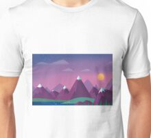 Cute Mountains Unisex T-Shirt