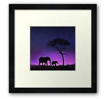 Moonlight Stroll Framed Print