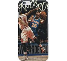 Derrick Rose Chicago to New York Garden Artwork Basketball iPhone Case/Skin