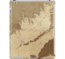 Vintage Map of Buzzards Bay (1776) iPad Case/Skin
