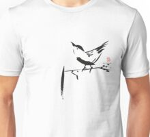 chinese brush painting bird Unisex T-Shirt