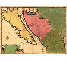 Vintage Map of California (1720) Photographic Print