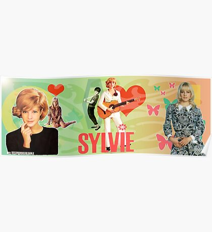 Sylvie Vartan EXCLUSIVE wonderful design! Poster