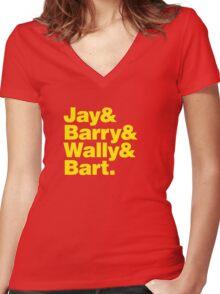 Flash Family Women's Fitted V-Neck T-Shirt