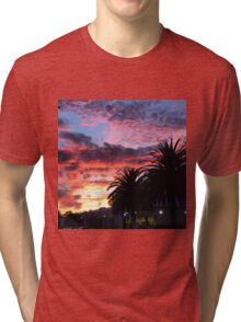 Sunset and palm trees  Tri-blend T-Shirt