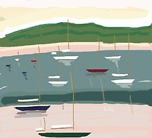 CENTER HARBOR MORNING by LAURIE HADLOCK