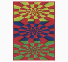 """""""ABSTRACT 3D"""" Psychedelic Fun Print Kids Tee"""