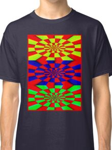 """""""ABSTRACT 3D"""" Psychedelic Fun Print Classic T-Shirt"""