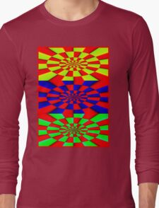 """""""ABSTRACT 3D"""" Psychedelic Fun Print Long Sleeve T-Shirt"""