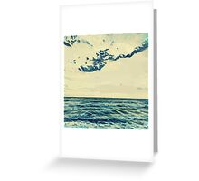 Landscape of the seaside in Cannes Greeting Card