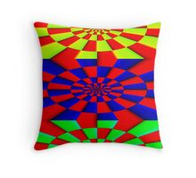 """ABSTRACT 3D"" Psychedelic Fun Print Throw Pillow"