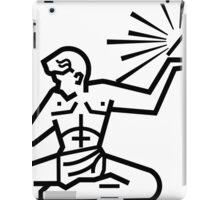 Spirit of Detroit Line Art (b&w) iPad Case/Skin