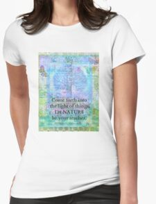 Nature Tree Quote Wordsworth Womens Fitted T-Shirt