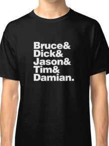 Bruce and the Boy Wonders Classic T-Shirt