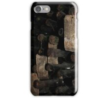 Ancient wine bottles with labels iPhone Case/Skin