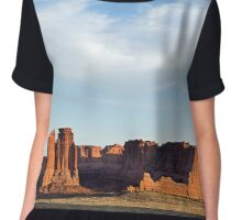 arches national park Chiffon Top