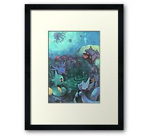 Pokémon - Water type Framed Print