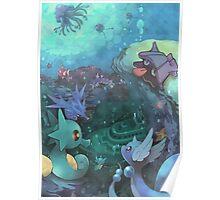 Pokémon - Water type Poster