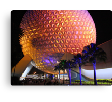 Spaceship Earth at Night Canvas Print