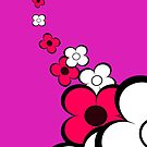 Hot Pink and White Flowers by treasured-gift