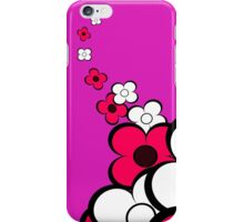 Hot Pink and White Flowers iPhone Case/Skin