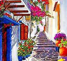 Island Life by painting-greece