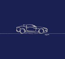 Jaguar F-Type - Single Line by douglaswood