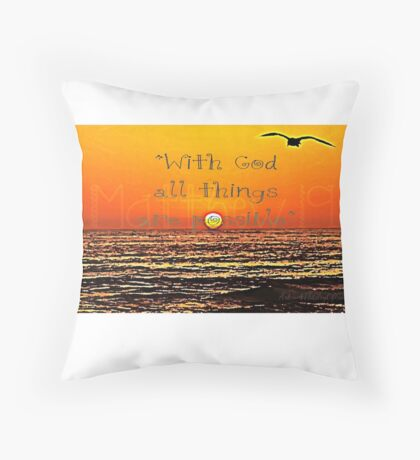"""With God..."" Throw Pillow"