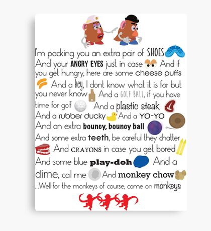 Mr. and Mrs. Potato Head Canvas Print