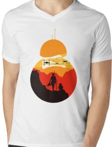 Star Wars VII - BB8 & Rey 2 Mens V-Neck T-Shirt