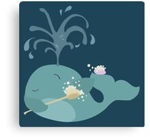 We are Whales - Washing Canvas Print
