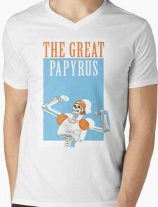 THE GREAT PAPYRUS Mens V-Neck T-Shirt