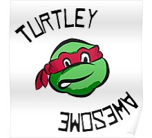 Turtley Awesome TMNT Cartoon Style Raph Poster