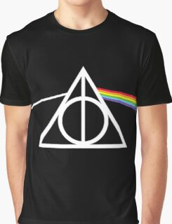 Deathly Hallows - Dark Side of The Moon Graphic T-Shirt