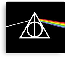 Deathly Hallows - Dark Side of The Moon Canvas Print