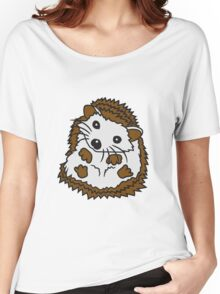 stacheln baby comic cartoon süßer kleiner niedlicher igel  Women's Relaxed Fit T-Shirt
