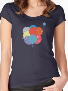 Let's float away Women's Fitted Scoop T-Shirt