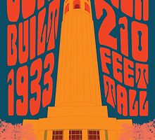 1960's Psychedelic San Francisco Coit Tower by Groovy-Frisco